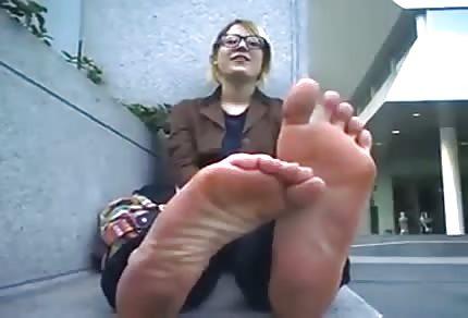 Sexy Füße draußen