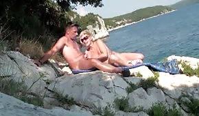 Mutti im Urlaub