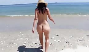 Sexy Mädel am Strand