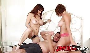 Wundervoller Sex mit Krissy Lynn und Alyssa Lynn im göttlichen Dreieck
