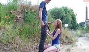 Schneller Sex mit langbeinigem Stock