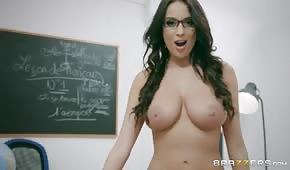 Analsex mit einer schönen Lehrerin